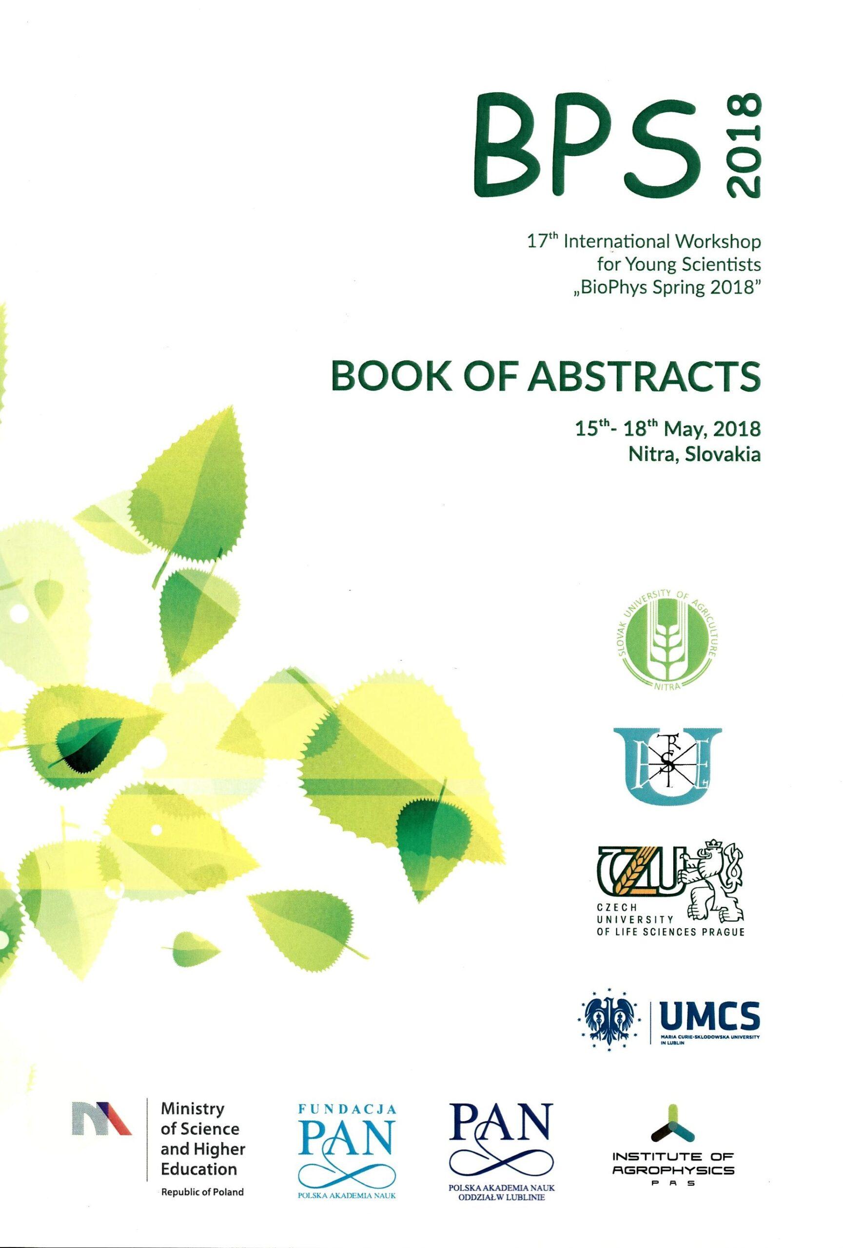 18-19 maja 2021 r.  20 Międzynarodowe warsztaty dla młodych pracowników naukowych BIOPHYS SPRING
